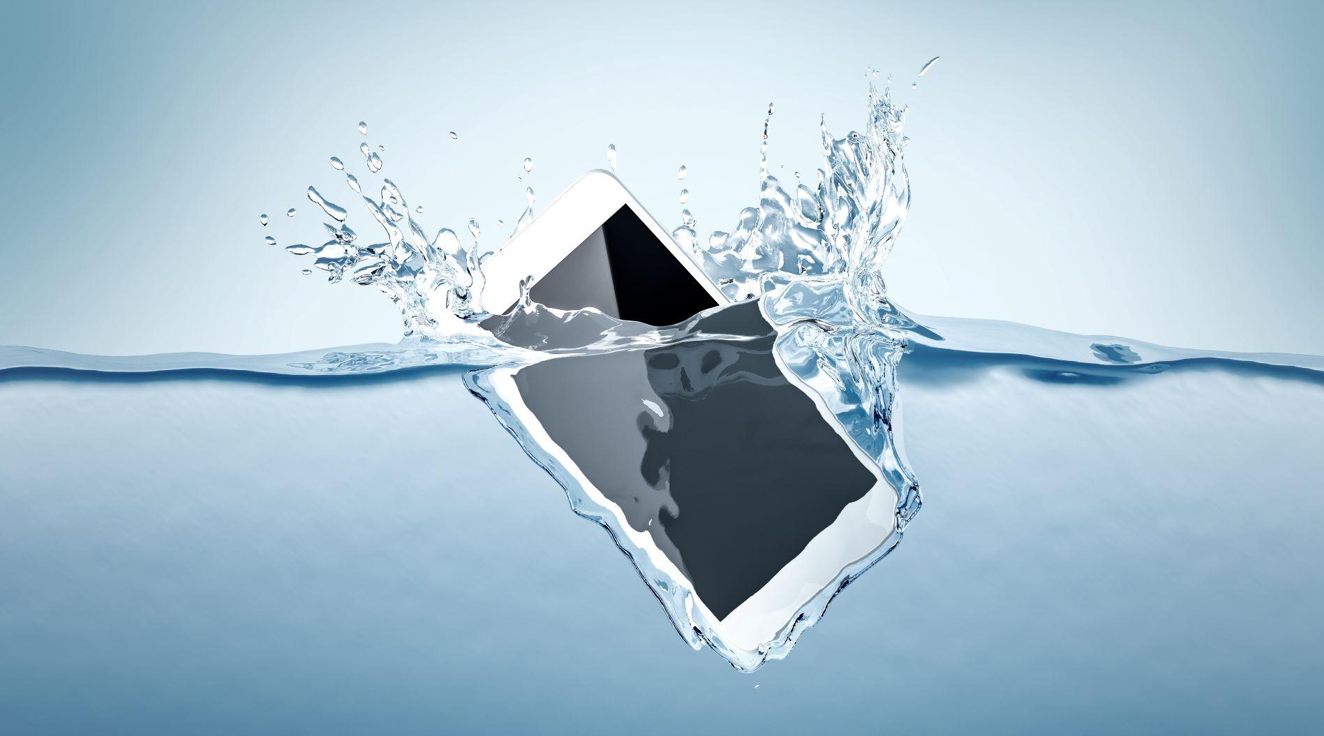 telefon v vodi